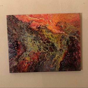 """""""The Crown"""" Original Signed Abstract Painting"""